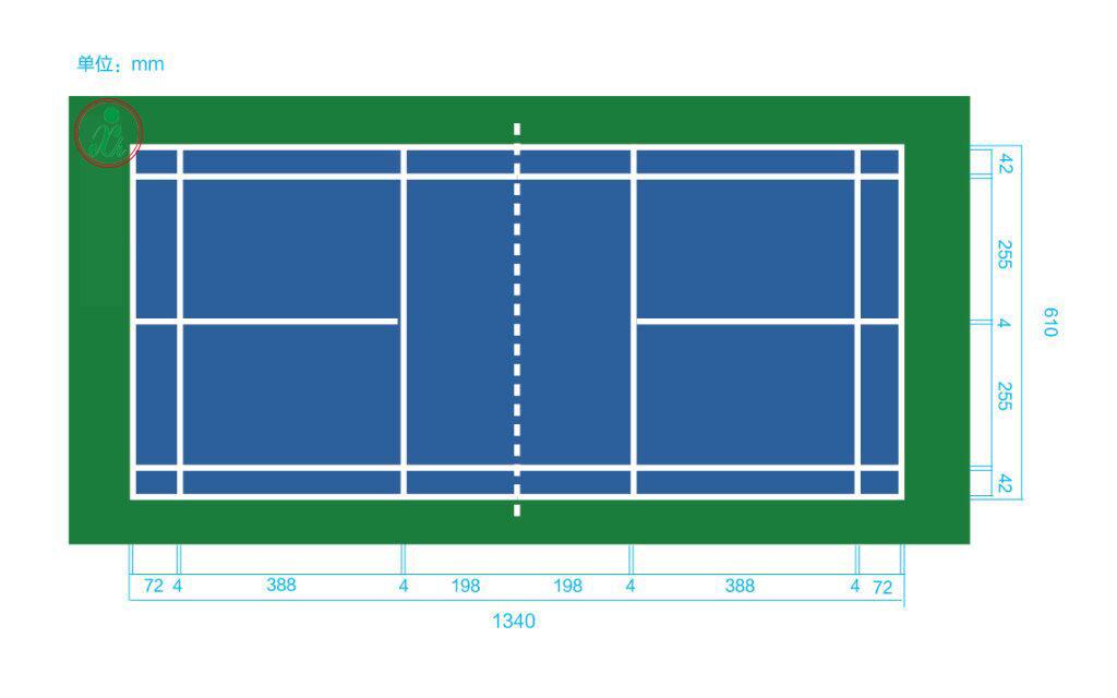 羽毛球场标准尺寸